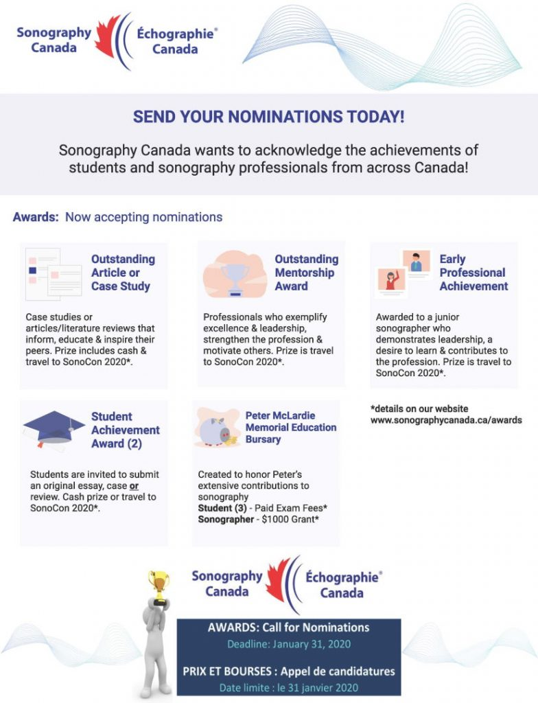 Sonography Canada awards nominations poster
